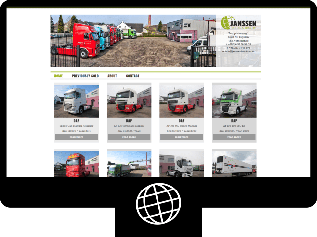Janssen Trucks – website