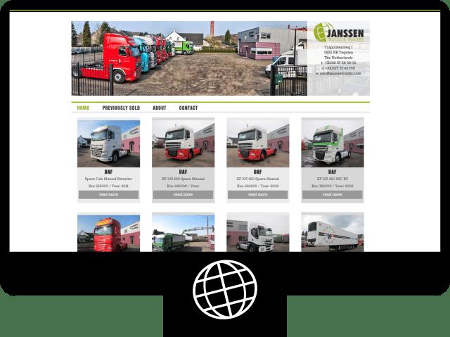 Janssen Trucks - website
