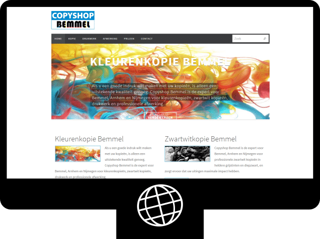 Copyshop Bemmel – website