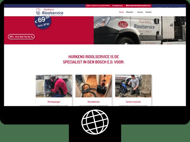 Hurkens rioolservice — website
