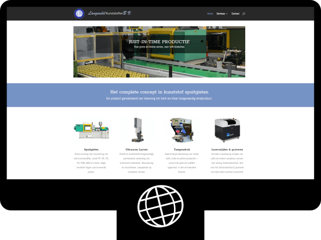 Langeveld kunststoffen — website