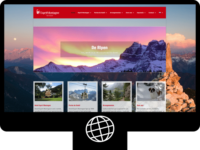 Hotel Esprit Montagne — website