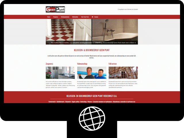 Klussenbedrijf Geen Punt — website