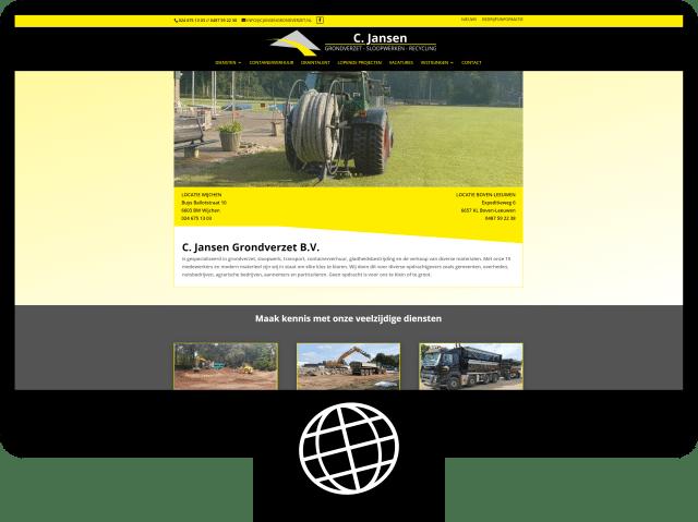 C. Jansen grondverzet — website